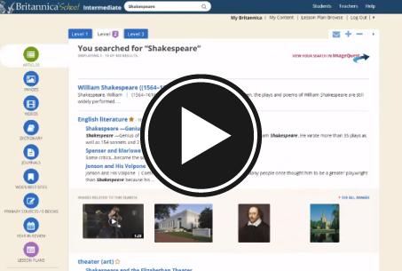 Britannica School's search results - image