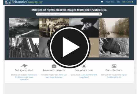 Britannica ImageQuest overview for schools - image